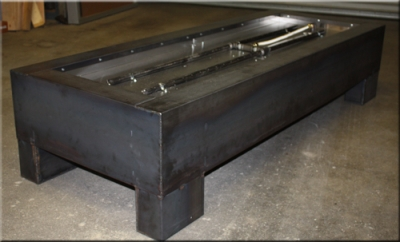 ... Idea For A Portable Outdoor Fire Table. Made Of Corten Steel/ Metal And  Fueled By Natural Gas This Modern Custom Feature Is Both Industrial And  Stylish.