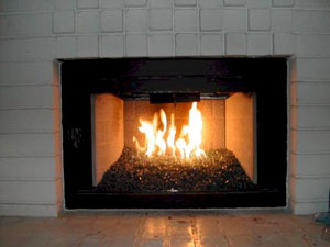 custom fireplace glassfire