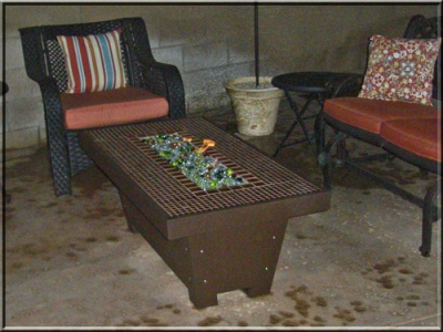 Custom outdoor fire table feature 1