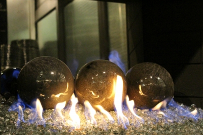 6 gray fire pit fireball