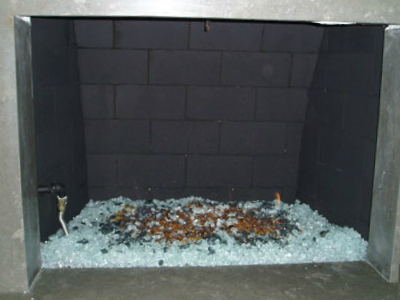 Fireglass fireplace starfire
