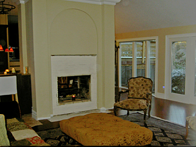 fireplace conversion to fireglass
