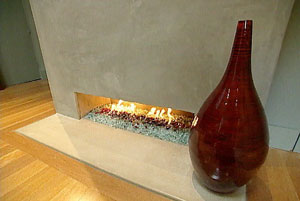 hgtv custom fireplace using glass fire stones