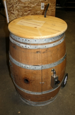 Custom Propane Wine Barrel Fire Pit
