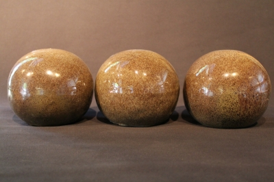 6 inch light gray fireballs