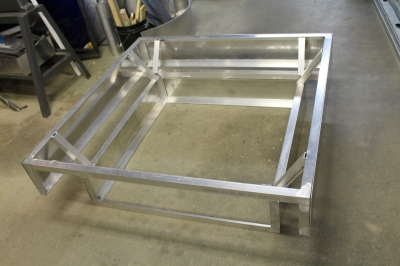 custom metal fire table