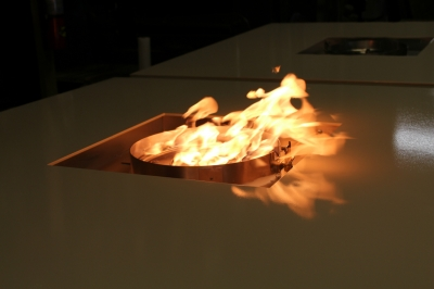 Custom propane metal fire table