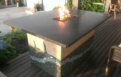 custom DIY fire and ice fire table