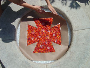 fire glass fire pit designs