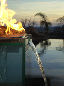 custom outdoor fire and water foutain feature 2