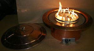 metal fire ring to use with fireglass