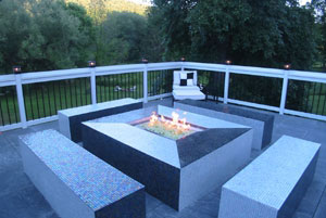 custom built commercial propane fire pit