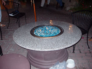fire rock fire pit table
