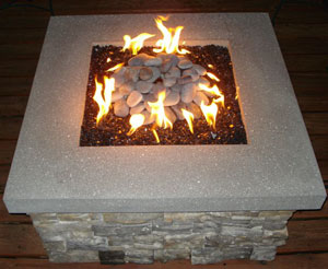 Portable Outdoor Fire Pits With Broken Tempered Glass