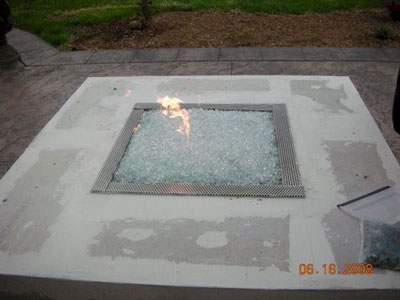 glass rocks for custom fire pit designs
