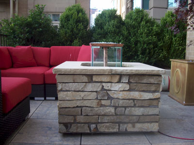 custom outdoor fire and water foutain feature 15