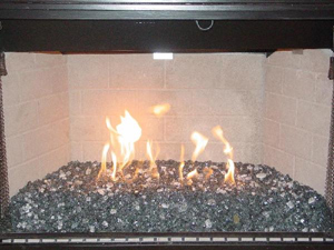 fire glass for modern fireplace