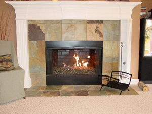 fireplace ideas using burning glass