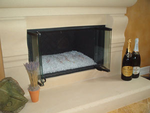 fire crystal used for fireplace conversion
