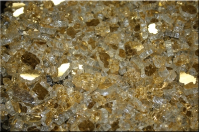 California Gold base fireglass for fire pits and fireplaces