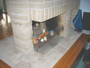 propane fireplace idea