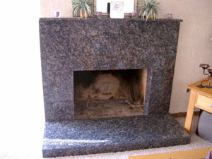 conversion to burning glass fireplace