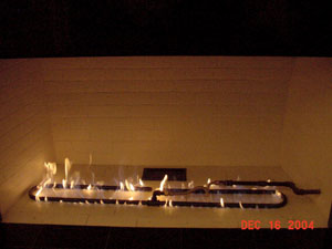 custom burner for majestic fireplaces