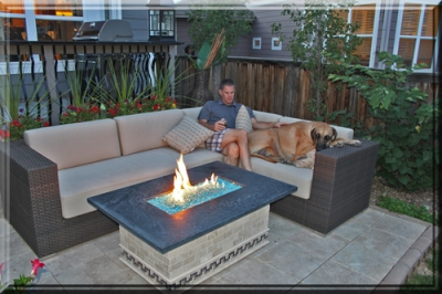 patio fireplace table.  Kris Day Fire Table 6 Clean burning outdoor firepits Propane burner authority and