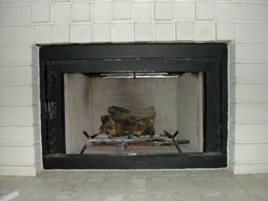 old fireplace log system