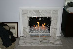 affordable fireglass fireplace