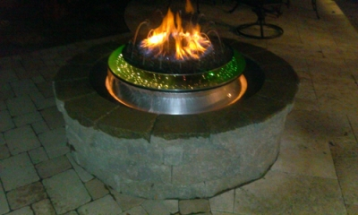 Dominic Backowski Fire and Water Feature